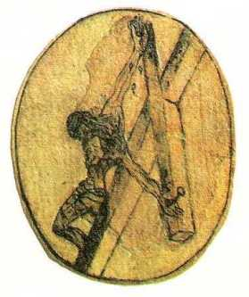 St John of the Cross's drawing of the crucifixion.