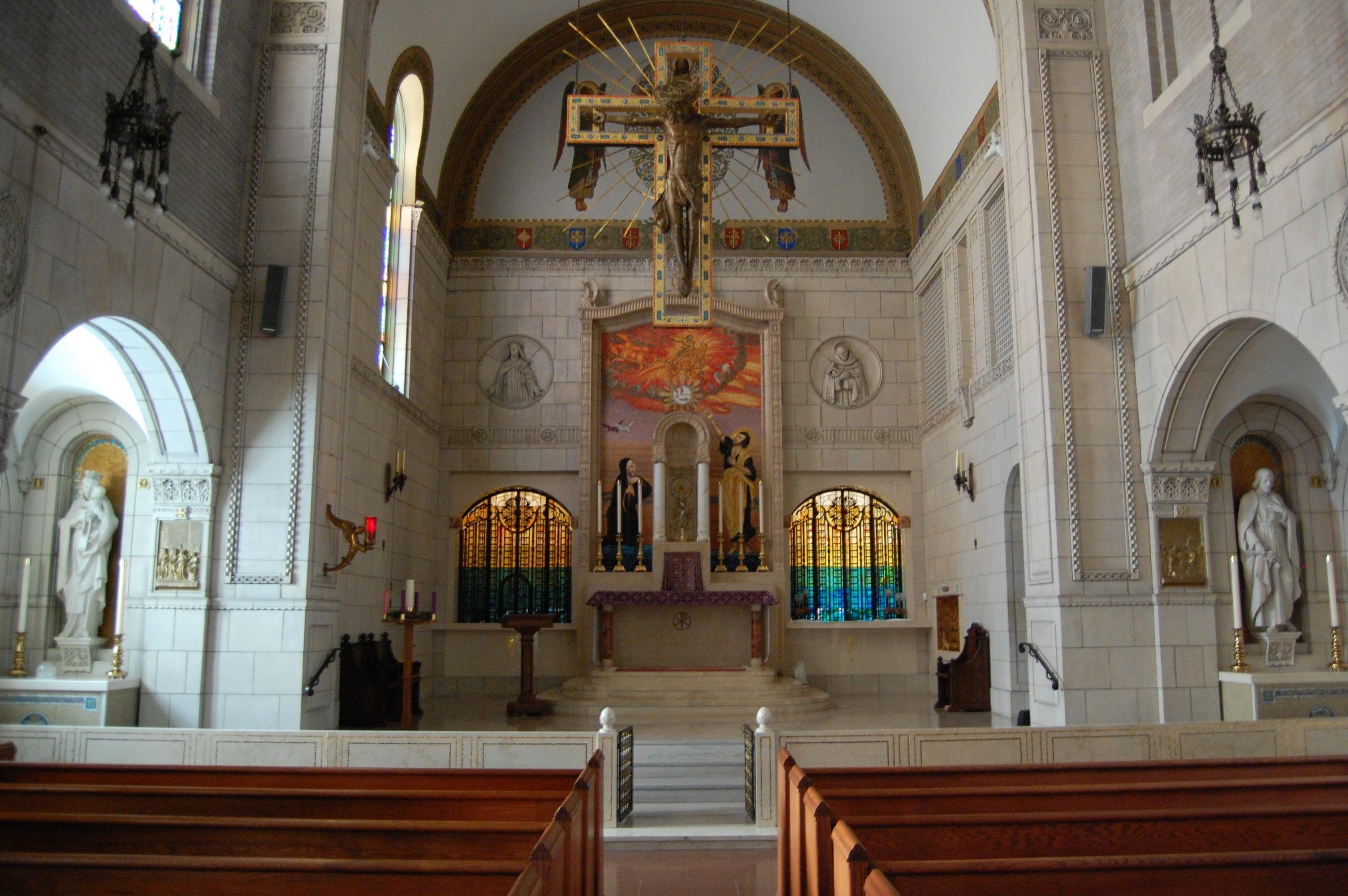 Carmelite Monastery front altar | Shrine Tower