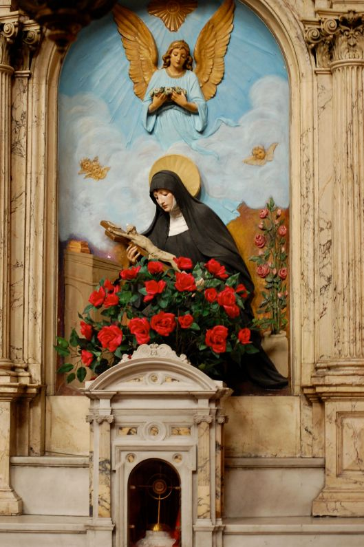 st rita with relics