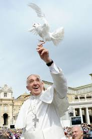 francis in assisi with dove