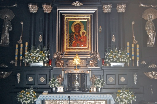 lower church altar on adoration day