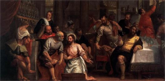 christ-washing-the-feet-of-the-disciples Palo Veronese