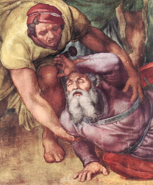 MICHELANGELO conversion of st. paul detail