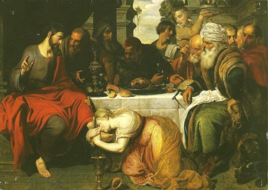 washing Christ at the Home of the Pharisee by Artus Wolffort (b 1581; d 1641)