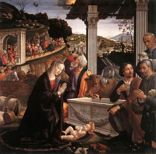 Adoration_of_the_Shepherds_1482_85Domenico_Ghirlandaio Santa Trinita Florence