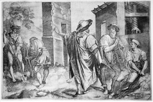 Parable of the Workers in theParable of the workers in the vineyard.Vineyard Cesare Roberti  ca. 1590