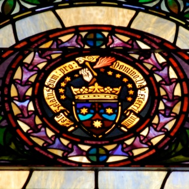 coat of arms detail window