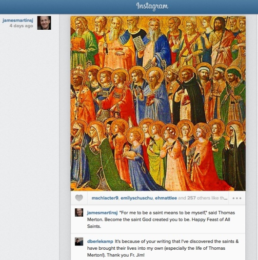 instagram example all saints day martin