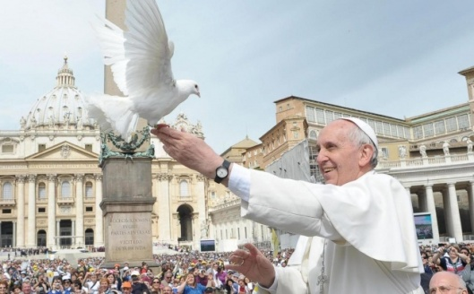 Pope with Dove
