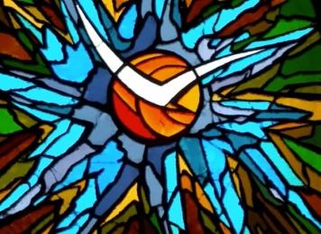Holy Spirit in blue