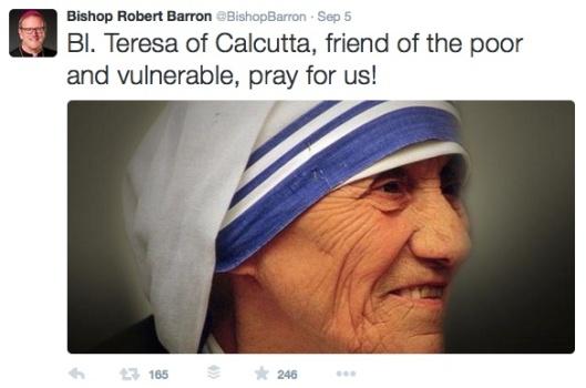 bishop barron example tweet