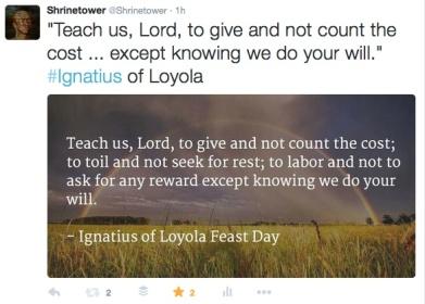 example tweet st. ignatius