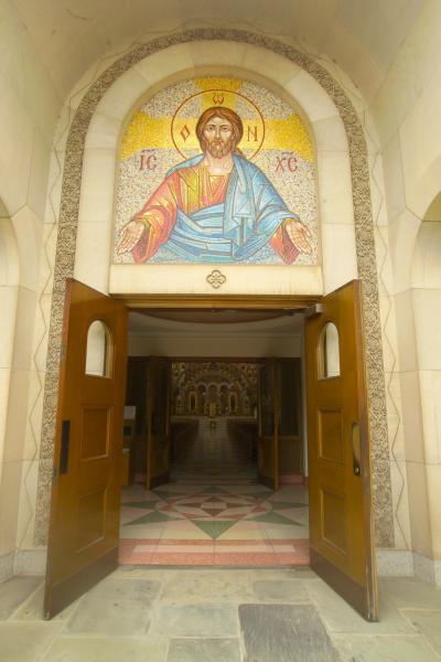 ukrainian cathedral doors wide open